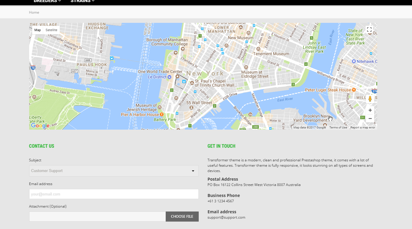 How To Edit Google Map And Contact Information On The Contact Us - Google-us-map