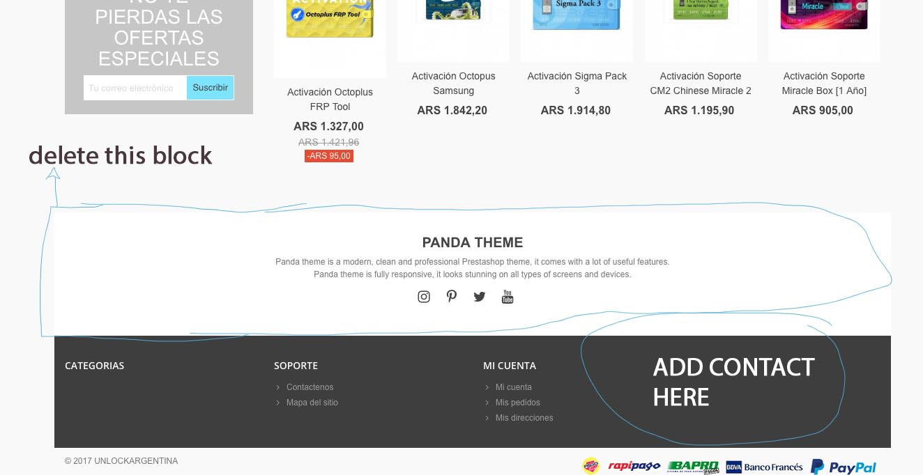 footer mods - ST-THEMES