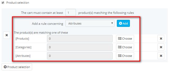 product restriction for cart rule PrestaShop